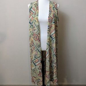 Lularoe Joy Vest Duster